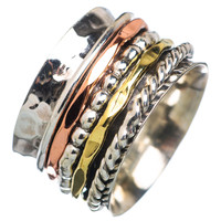 Spinner Ring - ThreeTone Five Spinner Bands