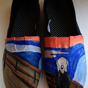 The Scream Hand Painted Toms