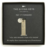The Giving Keys 'Believe - Belief Collection' Charm | Nordstrom