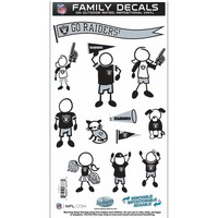 NFL - Oakland Raiders Family Decal Set Medium