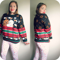 Vintage Bears Ugly Christmas Party Sweater