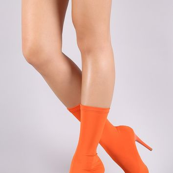 Shoe Republic LA Pointy Toe Stiletto Stretch Sock Bootie