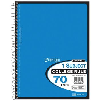 70 Sheet College Ruled One Subject Notebook - CASE OF 24