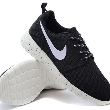 NIKE Women Men Running Sport Casual Shoes Sneakers BLACK WHITE DOTS
