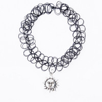 Urban Renewal Vintage Surplus Sun Charm Tattoo Necklace in Black - Urban Outfitters