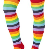 Rainbow Thigh High Stocking