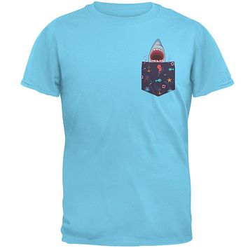 Faux Pocket Shark Mens T Shirt