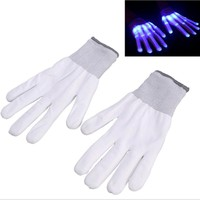 Pair of led gloves luminous flower finger light gloves party supplies dancing club props light up toys glowing unique gloves
