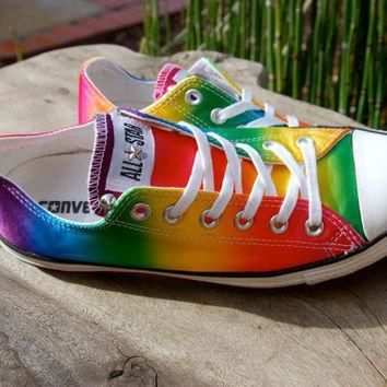 studded converse rare satin rainbow new listing low top studded converse