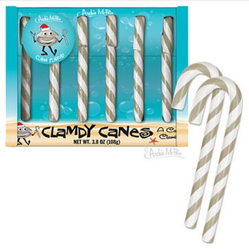 Clam Flavored Candy Canes