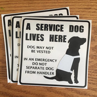 A Service Dog Lives Here Vinyl Decal | Personalized Decal | Service Dog Emergency Sticker | Assistance Dog | Service Dog Home Sticker