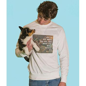 4 Dancers Degas Quote - French Terry Sweatshirt