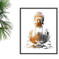 Watercolor Buddha Print Yoga Poster Yoga Watercolor Yoga Art Peace wall decor YOGA PRINT Lotus Pose Seated Buddha Art Yoga Studio Zen decor