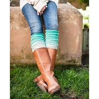 Grace & Lace Lace Ombre Leg Warmers™ (Mint)