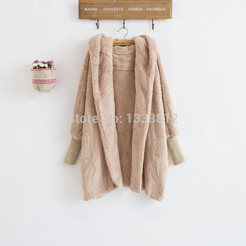 New Winter  European and American Loose Double Side Wool Coat and Fashion long  Wool  Coat