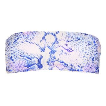 Snake Print Bandeau Bikini Top - New In This Week - New In