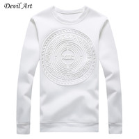 Men's Capless Hoodies Abstract Circular Patterns Pure Color Casual Sweatshirt Fashion Jacket Plus Size:M-5XL 968