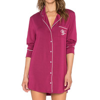 Wildfox Couture Cat Nap Sleep Shirt in Bordeaux & Vanilla