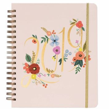 2019 Large Spiral Bouquet 17-Month Planner
