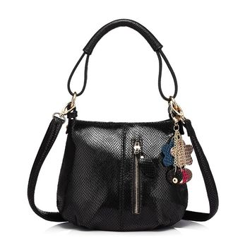 Genuine Leather Soft Hobo Shoulder Bag