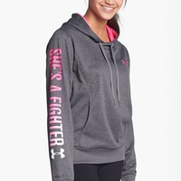 Under Armour 'Power in Pink - She's a Fighter' Hooded Sweatshirt | Nordstrom