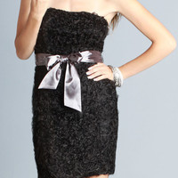 Kami Shade' Wedded Bliss Black Strapless Dress w/ Bow Detail