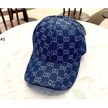 GUCCI 2019 new men and women models denim canvas baseball cap #3