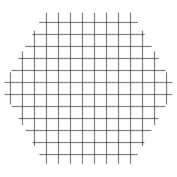 Grid Hex Wall Decal