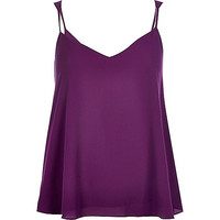 River Island Womens Purple V-neck cami top