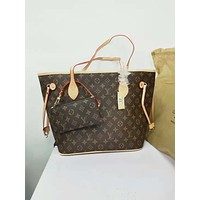 Louis Vuitton Damier Canvas Neverfull MM Red Shoulder Handbag Article: N41358 Made in France Monogram