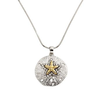 Sand Dollar and Starfish Necklace