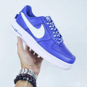 PEAPON NIKE Air Force 1 AF1 X NBA Blue For Women Men Running Sport Casual Shoes Sneakers