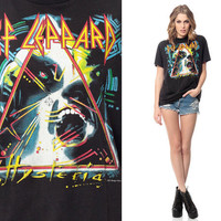 DEF LEPPARD Shirt 80s TShirt Hysteria Tour Band T by ShopExile