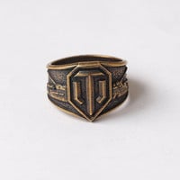 World of Tanks, WOT ring, WOT jewelry, Tank, Tank ring, World of Tanks jewelry, Men ring, Mens ring, RIng for men, Rings, SIze 11