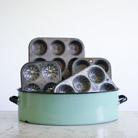 Vintage Baking Pan Collection / Muffin Pans / Retro Kitchen Supply