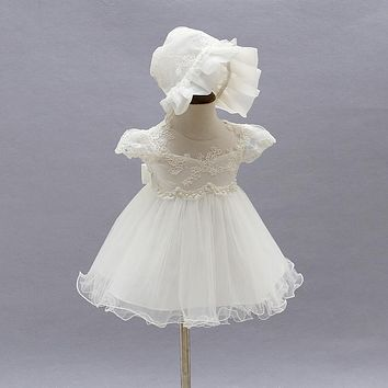 2016 Hot Sale New Arrival Baby Birthday Party Dress Baby Girl Christening Gowns Baby Flower Girl Baptism Dresses Factory Direct