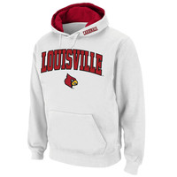 Louisville Cardinals Stadium Athletic Arch & Logo Pullover Hoodie - White