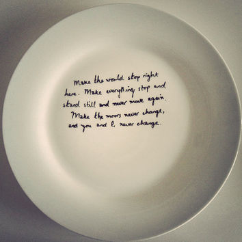 Wuthering Heights 'make the moors never change' plate by MrTeacup