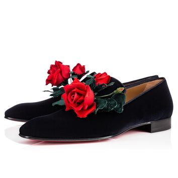 Casano Flat Nuit Velvet - Men Shoes - Christian Louboutin