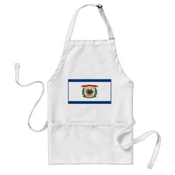 Apron with Flag of West Virginia, U.S.A.