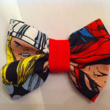Thor Small Fabric Hair Bow, Marvel, Avengers, Superhero, Comics, Comic Book