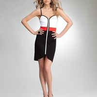 bebe Kirstie Colorblock Ponte Dress