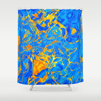 Abstract Design Shower Curtain by tmarchev
