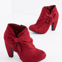 Burgundy Wrapped Bow Shootie