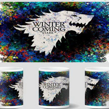 house stark game of thrones mugs coffee mug heat changing color cold hot heat sensitive mugen porcelain magic tea  novelty