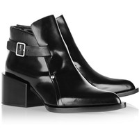 Jil Sander | Polished-leather ankle boots  | NET-A-PORTER.COM