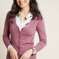 Charter School Cardigan in Azalea