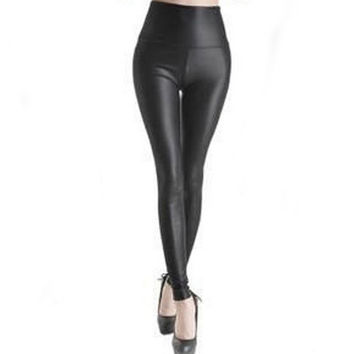Fashion Sexy Shiny Metallic High Waist Black Stretchy Hot Sale High Waist Leggings Women Leggings Fitness Workout Leggings
