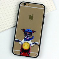 Motorcycle Dog Case for iPhone 5s 6 6s Case iPhone 6 6s Plus Gift-77