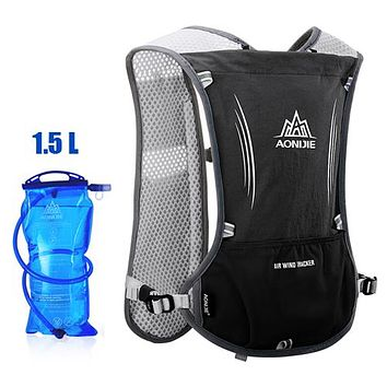 Running Vests Jogging AONIJIE Men Women Lightweight Running Backpack Outdoor Sports Trail Racing Marathon Hiking Hydration Vest Pack 1.5L Water Bag KO_11_1
